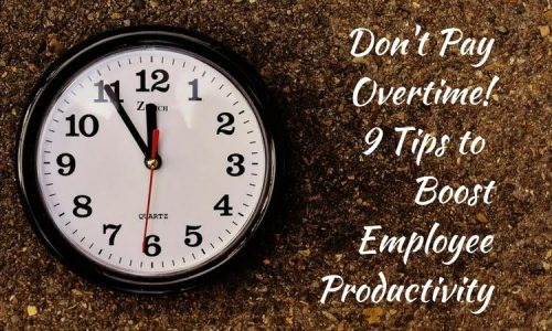 Don't Pay Overtime